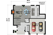 Contemporary Style House Plan - 3 Beds 2.5 Baths 2261 Sq/Ft Plan #25-4884