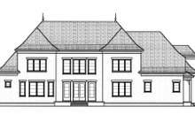 European Exterior - Rear Elevation Plan #413-817