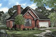 European Style House Plan - 3 Beds 2 Baths 1654 Sq/Ft Plan #17-1008 Exterior - Front Elevation