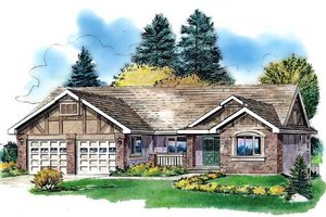 Traditional Exterior - Front Elevation Plan #18-325