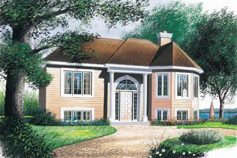 European Style House Plan - 2 Beds 1 Baths 1022 Sq/Ft Plan #23-143 Exterior - Front Elevation