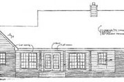 Country Style House Plan - 3 Beds 2 Baths 1926 Sq/Ft Plan #14-112 Exterior - Rear Elevation