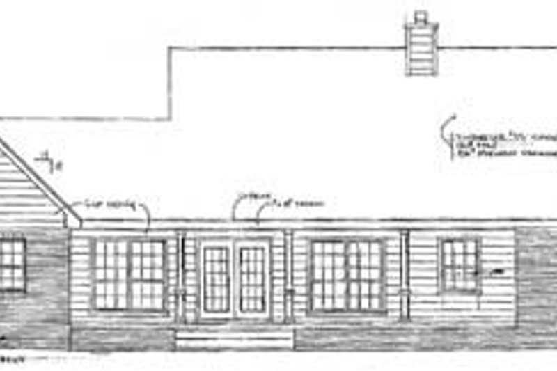 Country Exterior - Rear Elevation Plan #14-112 - Houseplans.com