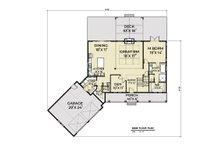 Contemporary Floor Plan - Main Floor Plan Plan #1070-81