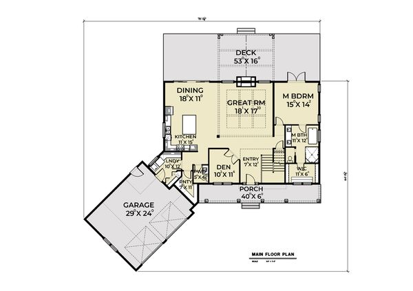 House Design - Contemporary Floor Plan - Main Floor Plan #1070-81