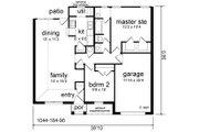 Cottage Style House Plan - 2 Beds 1 Baths 1044 Sq/Ft Plan #84-101 Floor Plan - Main Floor Plan