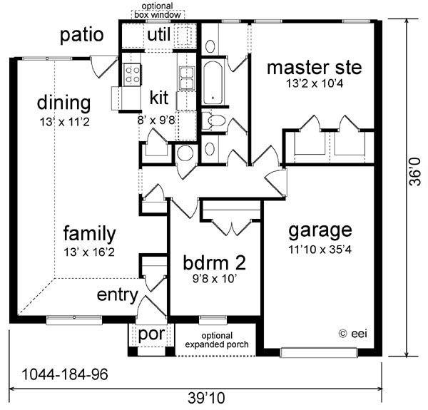 House Design - Cottage Floor Plan - Main Floor Plan #84-101