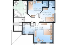 Traditional Floor Plan - Upper Floor Plan Plan #23-737