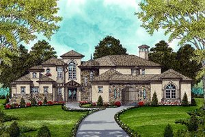 House Plan Design - Mediterranean Exterior - Front Elevation Plan #413-134