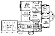 Classical Style House Plan - 3 Beds 4.5 Baths 4049 Sq/Ft Plan #119-252 Floor Plan - Main Floor