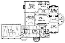 Classical Floor Plan - Main Floor Plan Plan #119-252