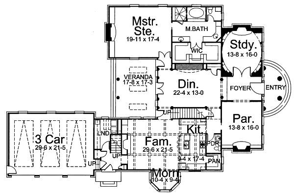 Classical Floor Plan - Main Floor Plan Plan #119-252