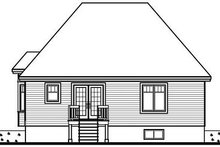 Cottage Exterior - Rear Elevation Plan #23-688