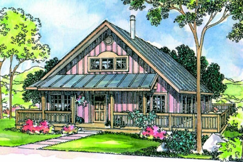 Cottage Exterior - Front Elevation Plan #124-452