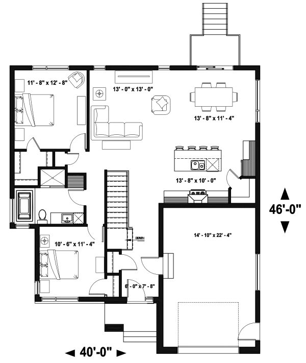 Modern Floor Plan - Main Floor Plan Plan #23-2699