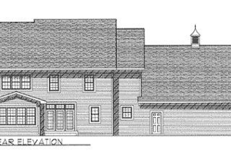 Colonial Exterior - Rear Elevation Plan #70-430 - Houseplans.com