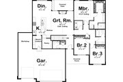 Farmhouse Style House Plan - 3 Beds 2.5 Baths 1906 Sq/Ft Plan #455-222 Floor Plan - Main Floor Plan