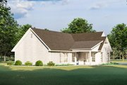 Cottage Style House Plan - 3 Beds 2 Baths 1782 Sq/Ft Plan #406-9657 Exterior - Rear Elevation