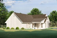 Cottage Exterior - Rear Elevation Plan #406-9657