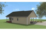 Cottage Style House Plan - 2 Beds 1.5 Baths 1152 Sq/Ft Plan #44-149 Exterior - Rear Elevation
