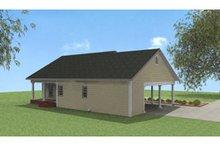 Cottage Exterior - Rear Elevation Plan #44-149