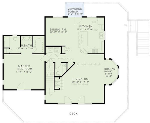 Cabin Floor Plan - Main Floor Plan Plan #17-2469