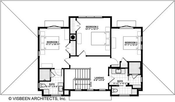 Cottage Floor Plan - Upper Floor Plan Plan #928-302