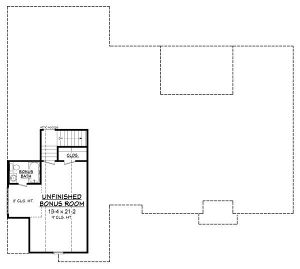 Country Floor Plan - Upper Floor Plan Plan #430-167