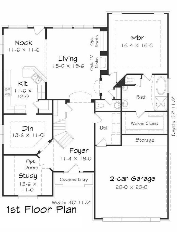 Floor Plan - Main Floor Plan Plan #329-369