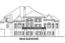 European Exterior - Rear Elevation Plan #119-357