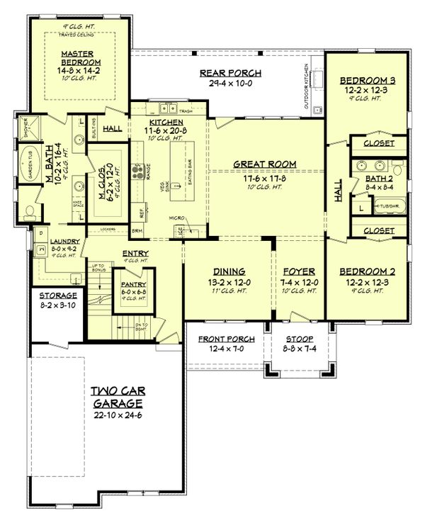 Farmhouse Floor Plan - Other Floor Plan #430-189