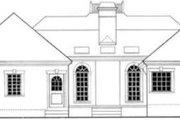 European Style House Plan - 3 Beds 2 Baths 1501 Sq/Ft Plan #406-185 Exterior - Rear Elevation