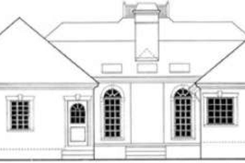 European Exterior - Rear Elevation Plan #406-185 - Houseplans.com