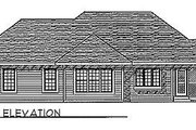 Traditional Style House Plan - 3 Beds 2 Baths 1657 Sq/Ft Plan #70-165 Exterior - Rear Elevation