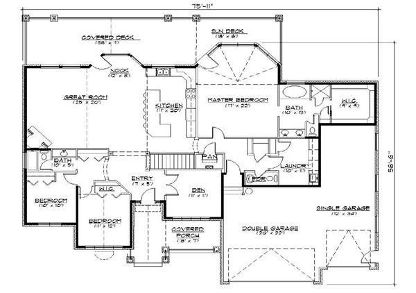 House Plan Design - European Floor Plan - Main Floor Plan #5-361