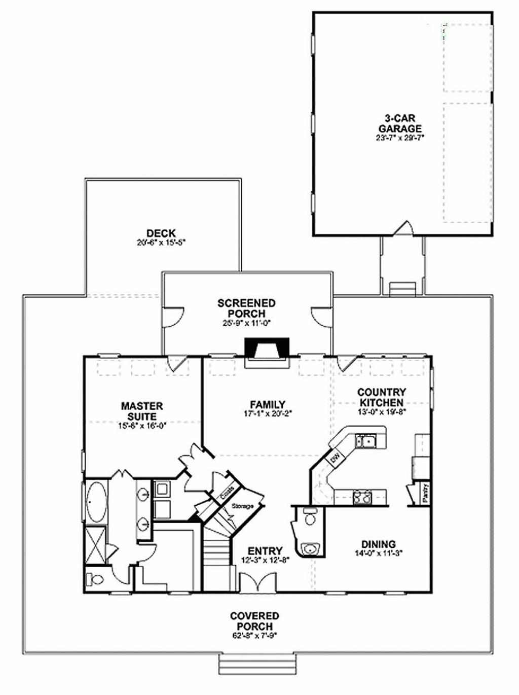 farmhouse floor plan   main floor plan plan  56 238 farmhouse style house plan   3 beds 2 5 baths 2098 sq ft plan  56      rh   dreamhomesource com