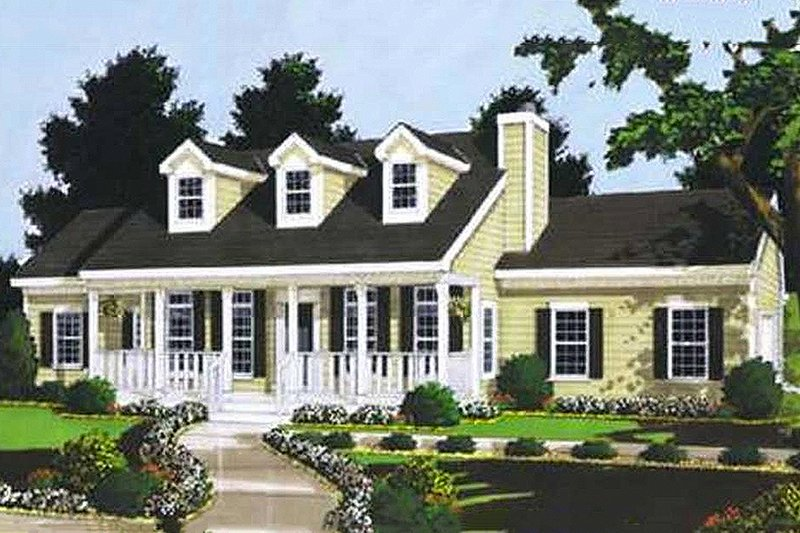 Country Exterior - Front Elevation Plan #3-116