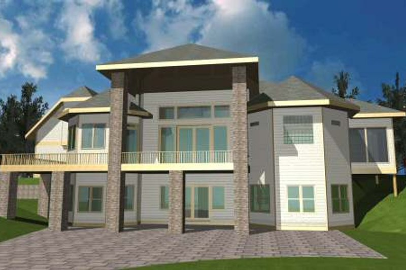 Bungalow Style House Plan - 1 Beds 1.5 Baths 2101 Sq/Ft Plan #117-569 Exterior - Front Elevation