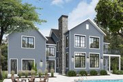 Farmhouse Style House Plan - 5 Beds 3 Baths 3599 Sq/Ft Plan #23-2688 Exterior - Rear Elevation