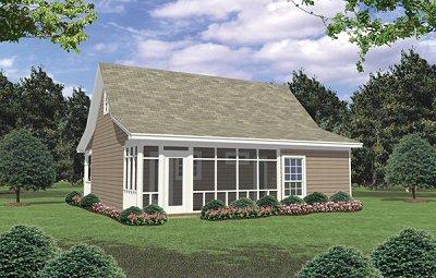 Cottage Exterior - Rear Elevation Plan #21-213 - Houseplans.com