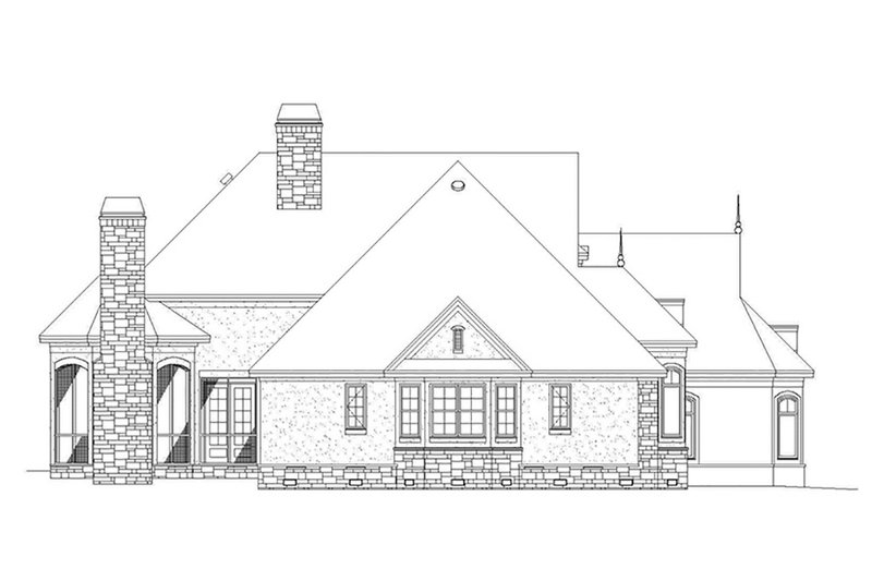 European Exterior - Other Elevation Plan #929-21 - Houseplans.com