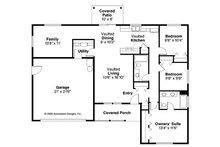 Ranch Floor Plan - Main Floor Plan Plan #124-769