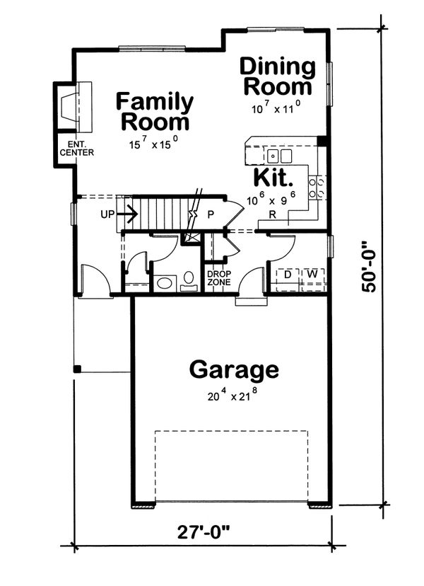 House Plan Design - European Floor Plan - Main Floor Plan #20-1513