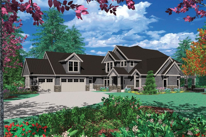 Craftsman Exterior - Front Elevation Plan #48-343