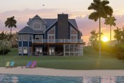 Craftsman Style House Plan - 5 Beds 3.5 Baths 3107 Sq/Ft Plan #1064-23 Exterior - Rear Elevation