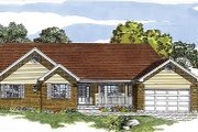 Traditional Style House Plan - 3 Beds 2 Baths 1760 Sq/Ft Plan #47-256 Exterior - Front Elevation