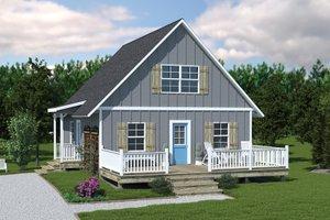 House Plan Design - Cottage Exterior - Front Elevation Plan #57-240