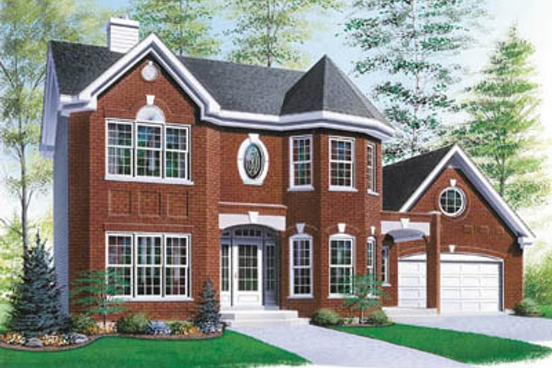 European Exterior - Front Elevation Plan #23-2138