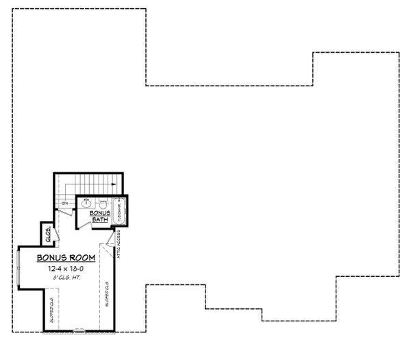 European Floor Plan - Upper Floor Plan #430-142