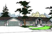 Ranch Exterior - Front Elevation Plan #60-624